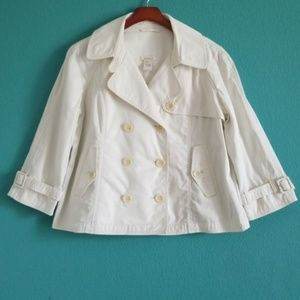 {Sundance} White Button Down Swing Jacket